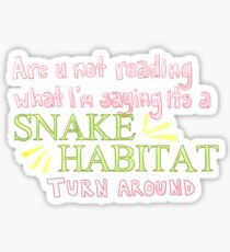 Snake Habitat Sticker