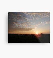 Distant Grainan sunset Metal Print