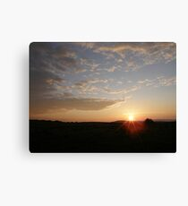 Distant Grainan sunset Canvas Print
