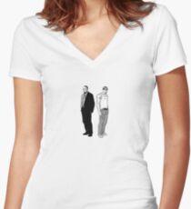 Stringer Bell and Avon Barksdale Women's Fitted V-Neck T-Shirt