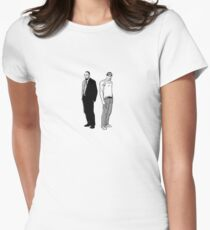 Stringer Bell and Avon Barksdale Womens Fitted T-Shirt