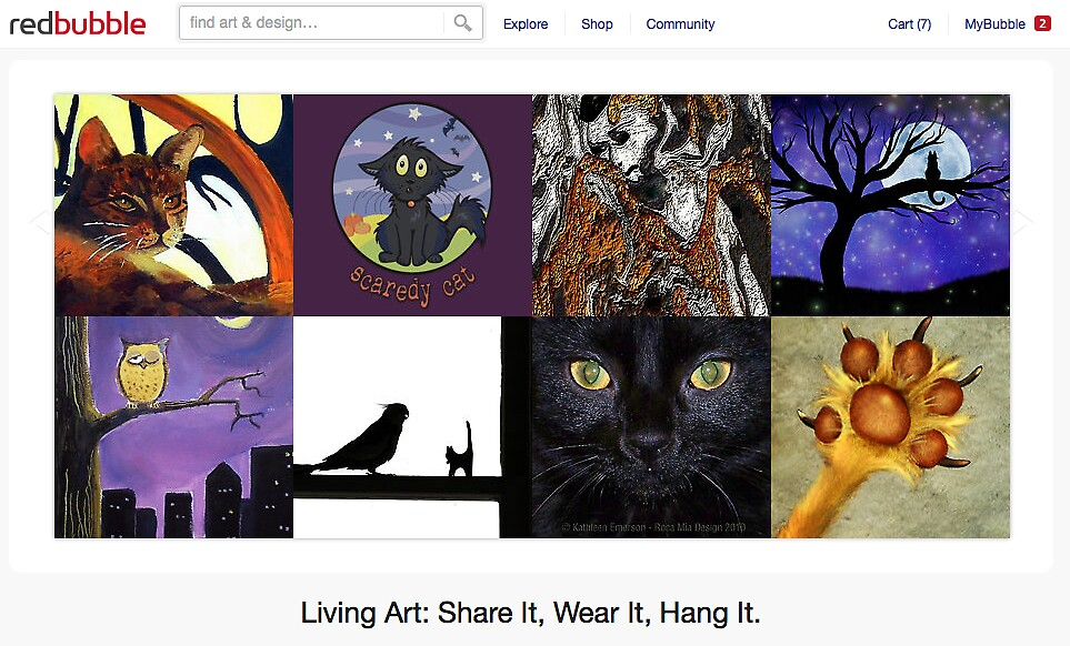 Fraidy Cats - 6 November 2011 by The RedBubble Homepage