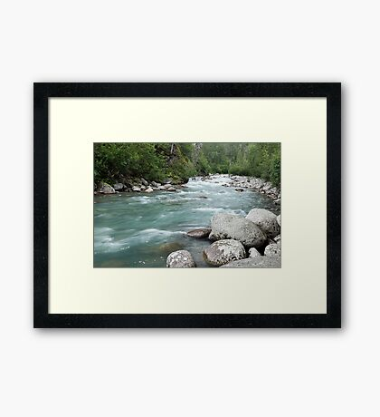 The Little Susitna Framed Print