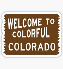 Willkommen zum bunten Colorado-Zeichen Sticker