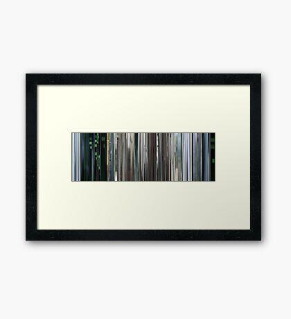 Moviebarcode: The Animatrix 4 Kid's Story (2003) Framed Print