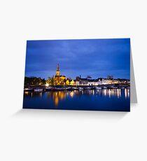 Maastricht, Sint-Martinuskerk And Maas River Greeting Card