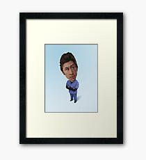 Zach Braff Caricature Framed Print