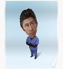 Zach Braff Caricature Poster