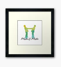 Mister and Mister, Customizable watercolor favor Wedding celebration Framed Print