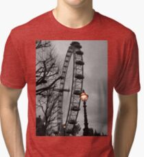 London Eye and street lamps Tri-blend T-Shirt