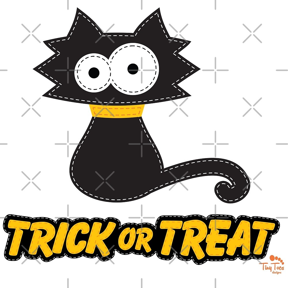 Black Cat Trick or Treat by BadCatDesigns
