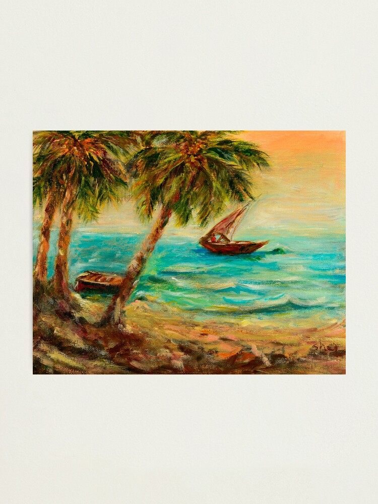 Alternate view of Sail boats on Indian Ocean  Photographic Print