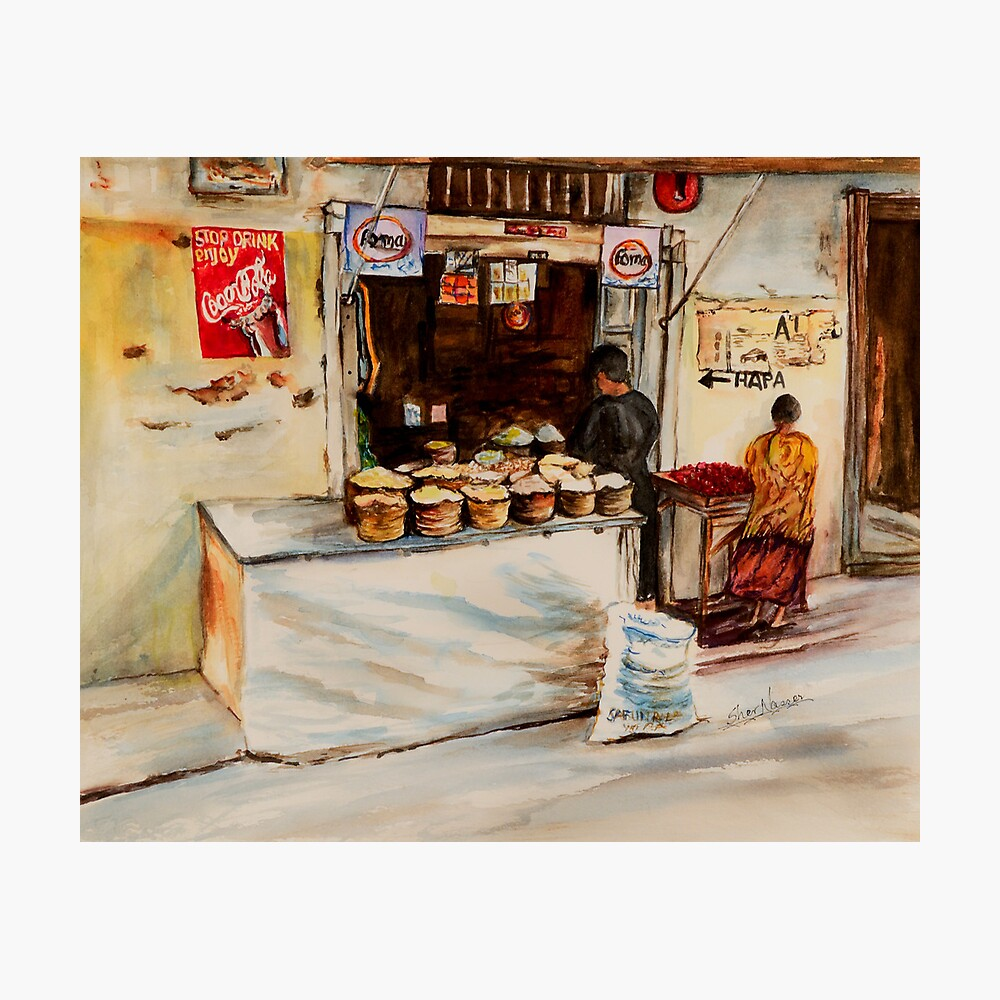 African corner store Photographic Print