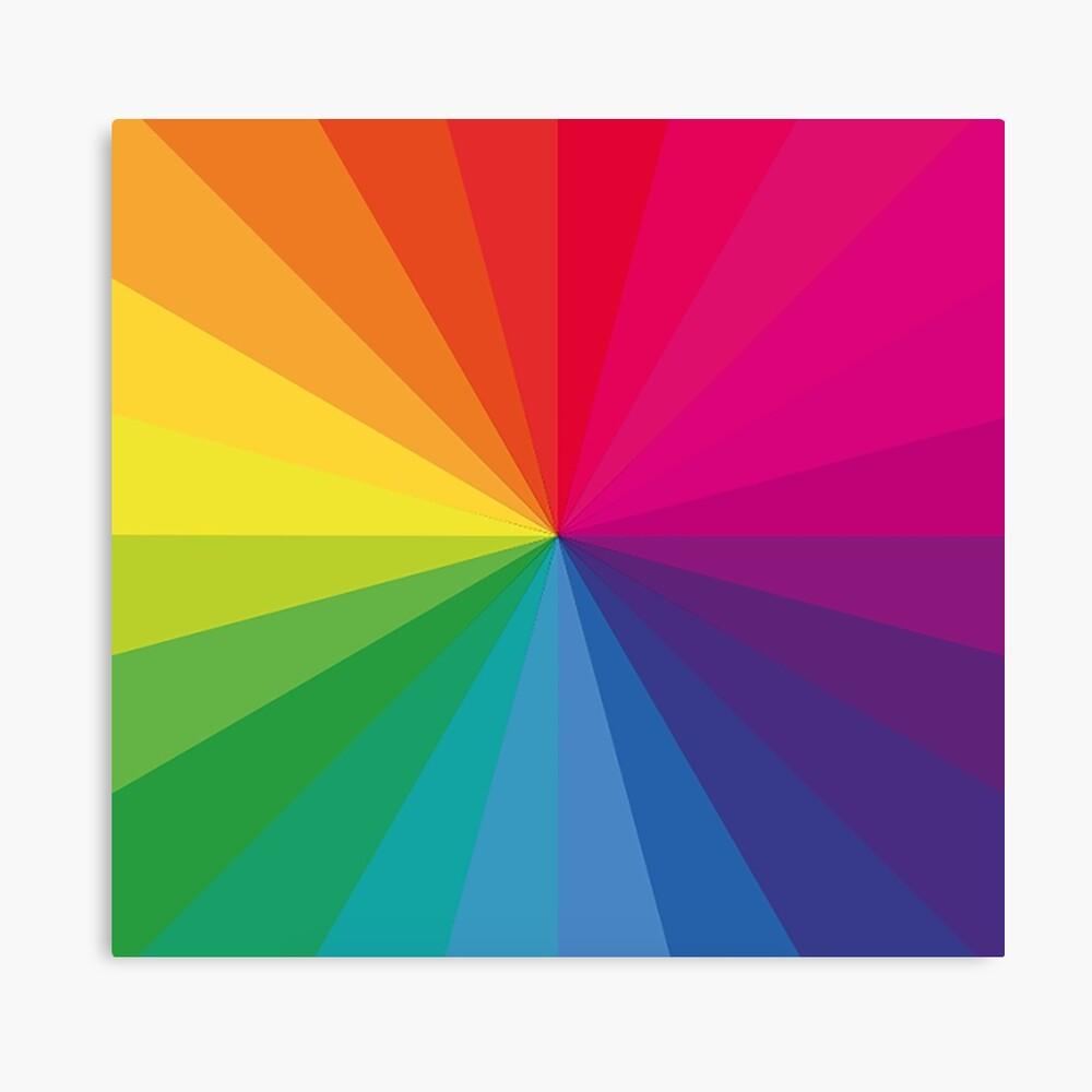 "Jamie xx ""In Farbe"" Pantone Farbspektrum Leinwanddruck"