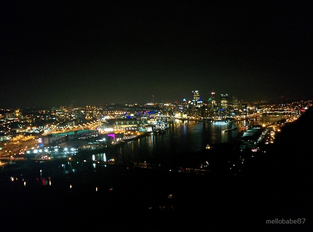 Pittsburgh at Night by mellobabe87