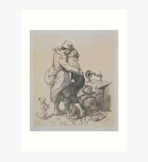 Adolphe Willette Alone at last1 Art Print