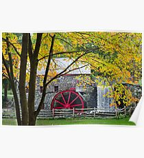 Sudbury Grist Mill in the Fall Poster