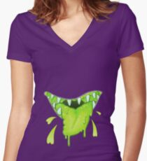 BLEH!! Women's Fitted V-Neck T-Shirt