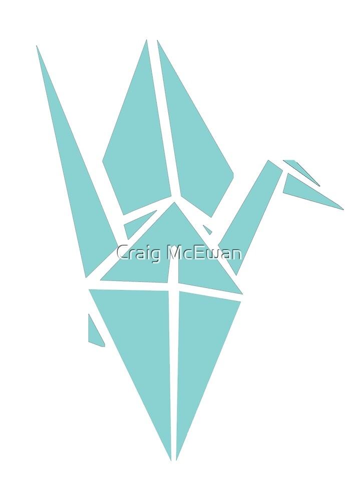 Origami Crane Illustration by Craig McEwan