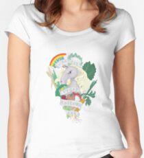 Bad*ss Vegan Unicorn Women's Fitted Scoop T-Shirt