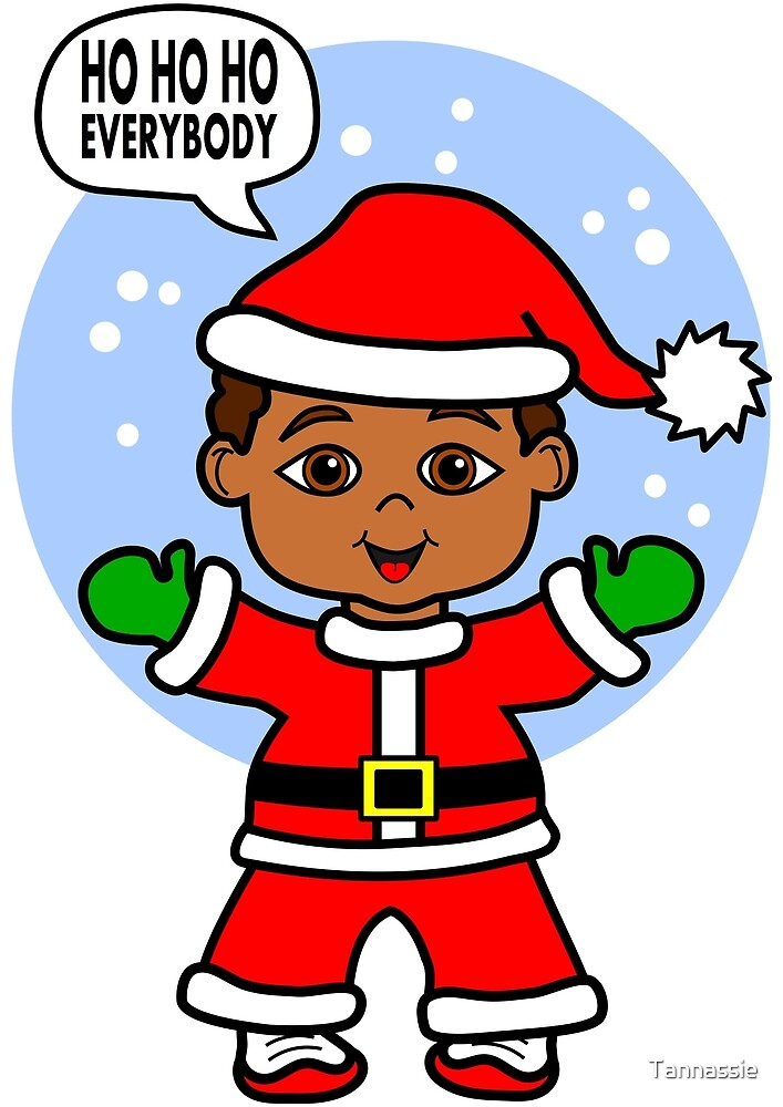 Cute Cartoon Boy Dressed Like Santa by Tannassie