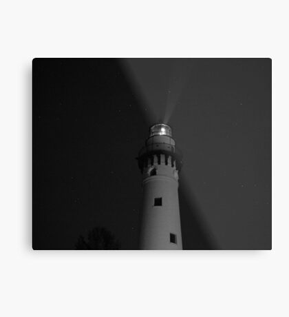 Lighthouse at Night Metal Print