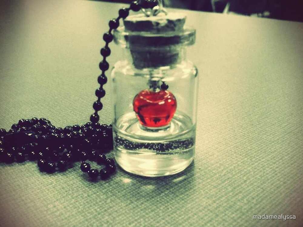 Apple Jar Necklace by madamealyssa