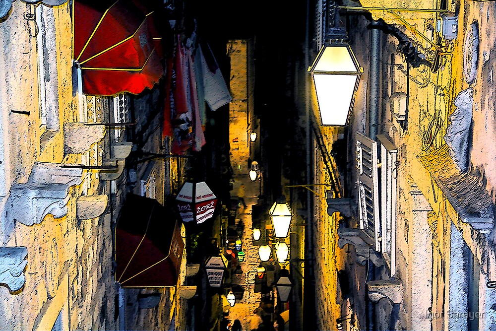 The Essence of Croatia - Night Lights And Shadows of Dubrovnik by Igor Shrayer