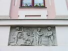Bas-relief on Hikisch House by Graeme  Hyde