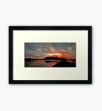 Sunset on the Camden Haven River Framed Print
