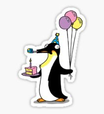 Party Time Penguin Sticker