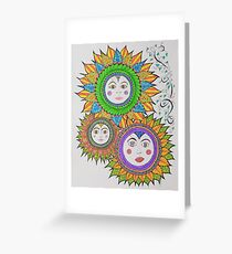 Sun Faces/6 - Three Greeting Card