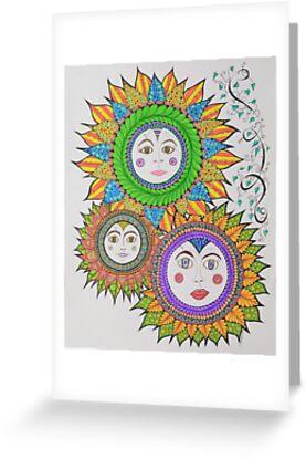Sun Faces/6 - Three by EllenGambrell