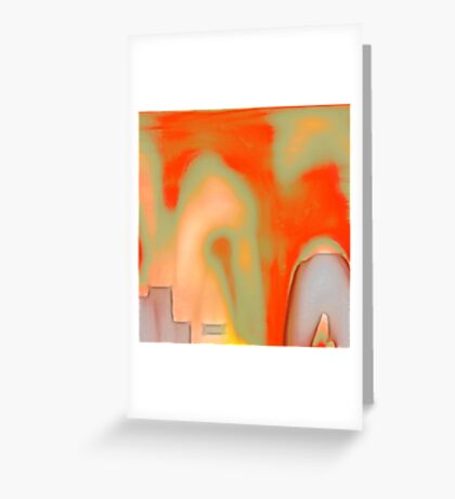 textured : fractured Greeting Card