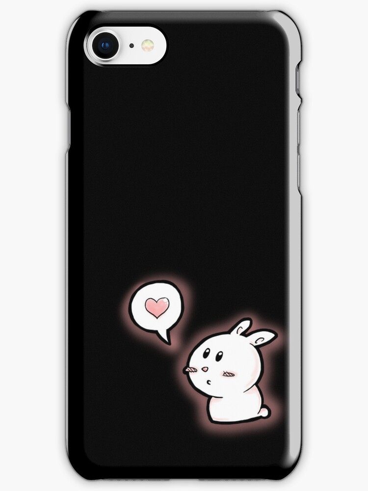 but I love you  - black iPhone case by Eriphyle