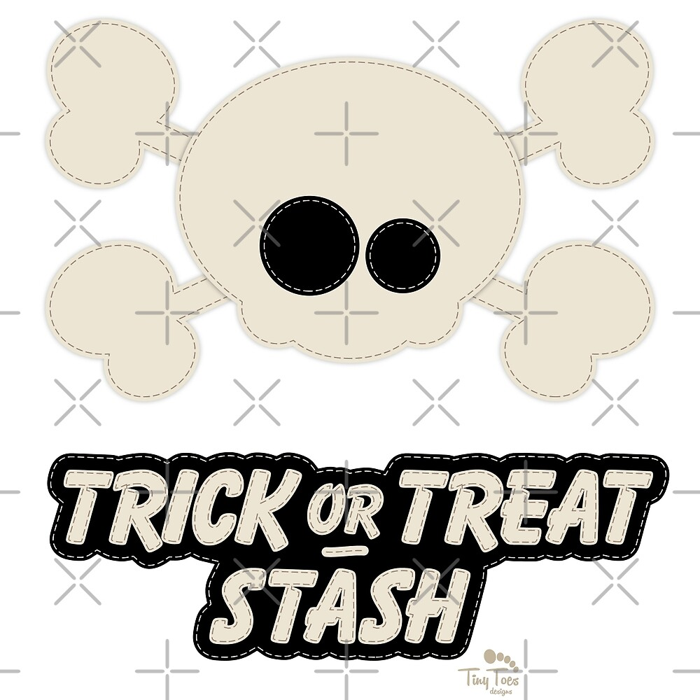 Cute Skull Trick or Treat Stash by BadCatDesigns