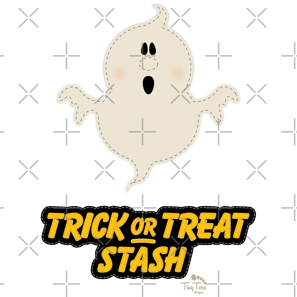 Scary Ghost Trick or Treat Stash by BadCatDesigns