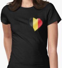 Belgian Flag - Belgium - Heart T-Shirt