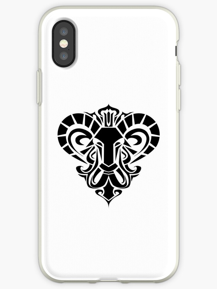 Aries Black iPhone case by elangkarosingo