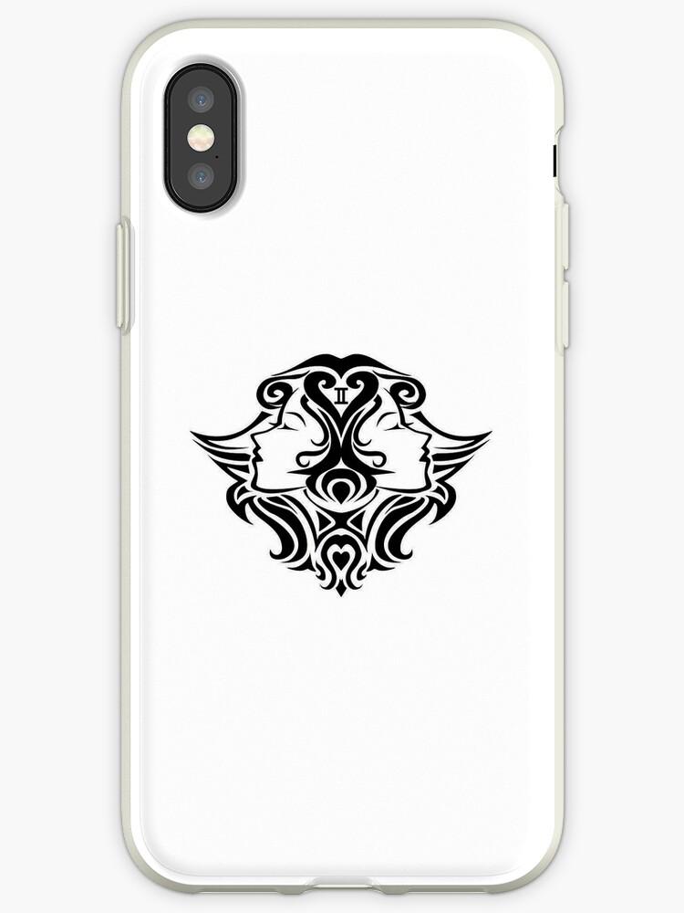 Gemini Black iPhone case by elangkarosingo