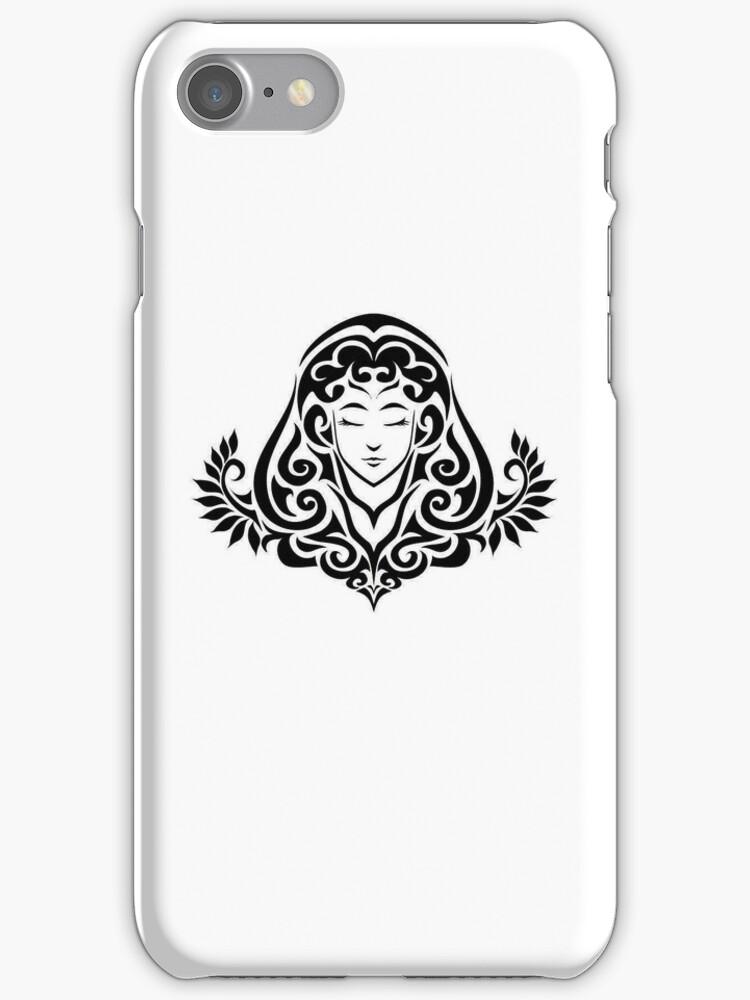 Virgo Black iPhone case by elangkarosingo