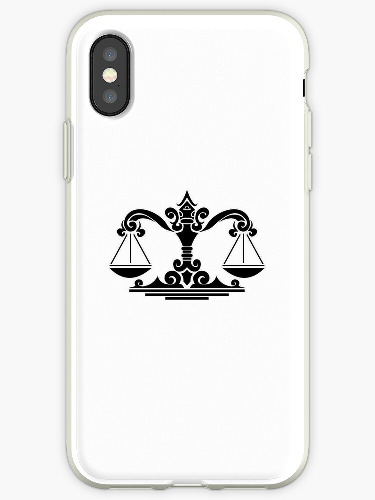 Libra Black iPhone case by elangkarosingo