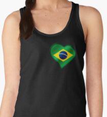 Brazilian Flag - Brazil - Heart Women's Tank Top