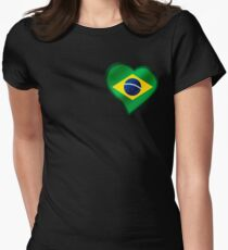 Brazilian Flag - Brazil - Heart T-Shirt