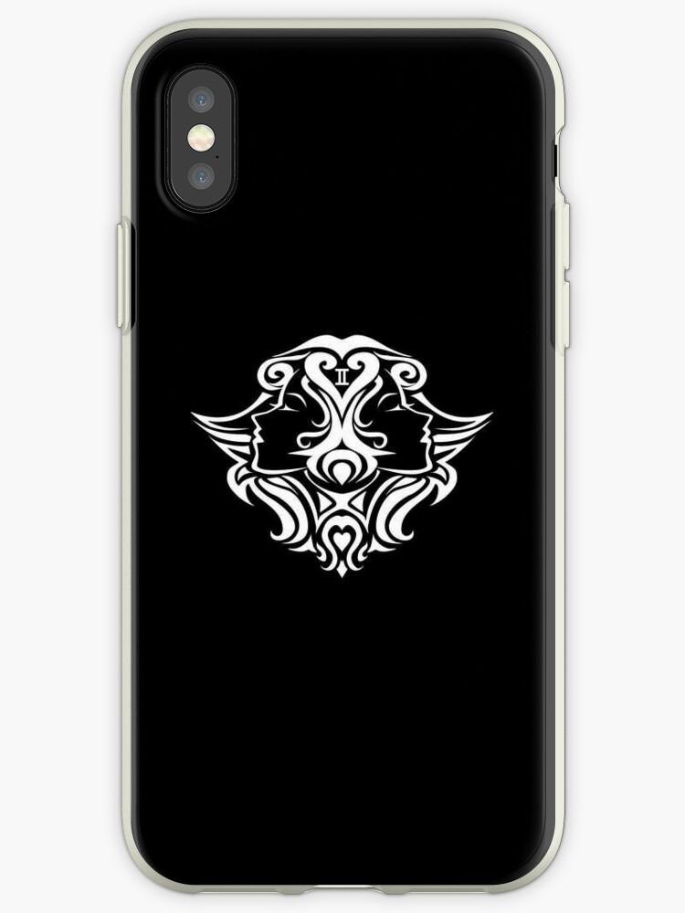 Gemini White iPhone case by elangkarosingo