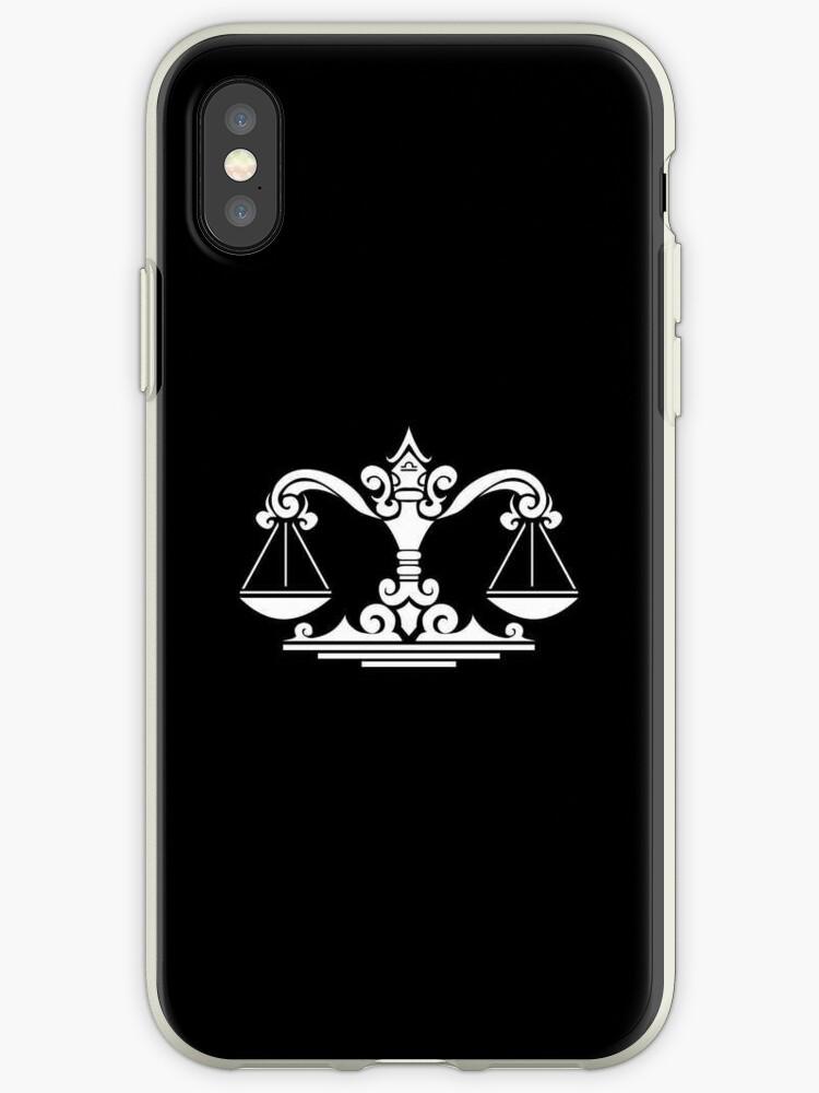 Libra White iPhone case by elangkarosingo