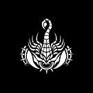 Scorpion White iPhone case by elangkarosingo