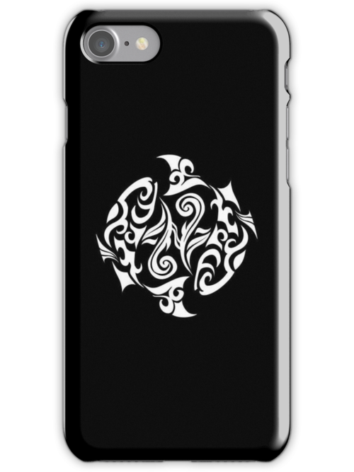 Pisces White iPhone case by elangkarosingo