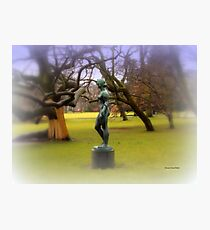 Statue by the Lake Photographic Print