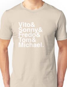 Vito & Sonny & Fredo & Tom & Michael (The Godfather) Unisex T-Shirt